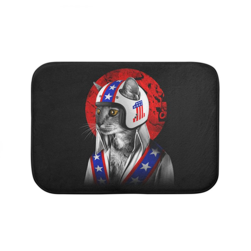 Evel Katneivel Home Bath Mat by Joe Conde