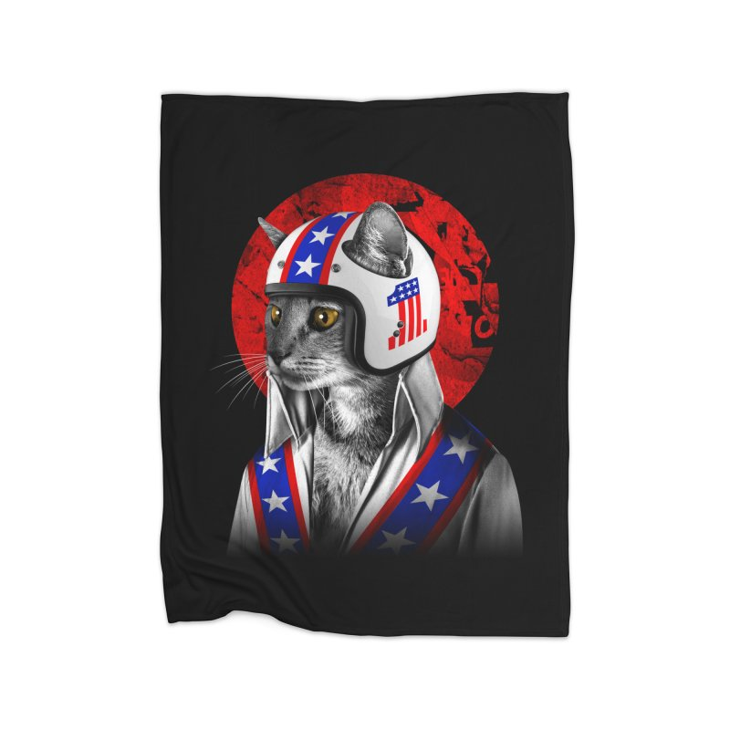 Evel Katneivel Home Fleece Blanket Blanket by Joe Conde