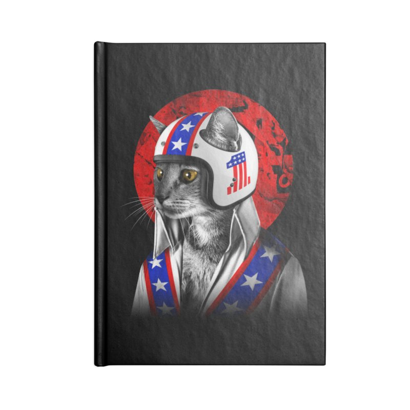 Evel Katneivel Accessories Lined Journal Notebook by Joe Conde