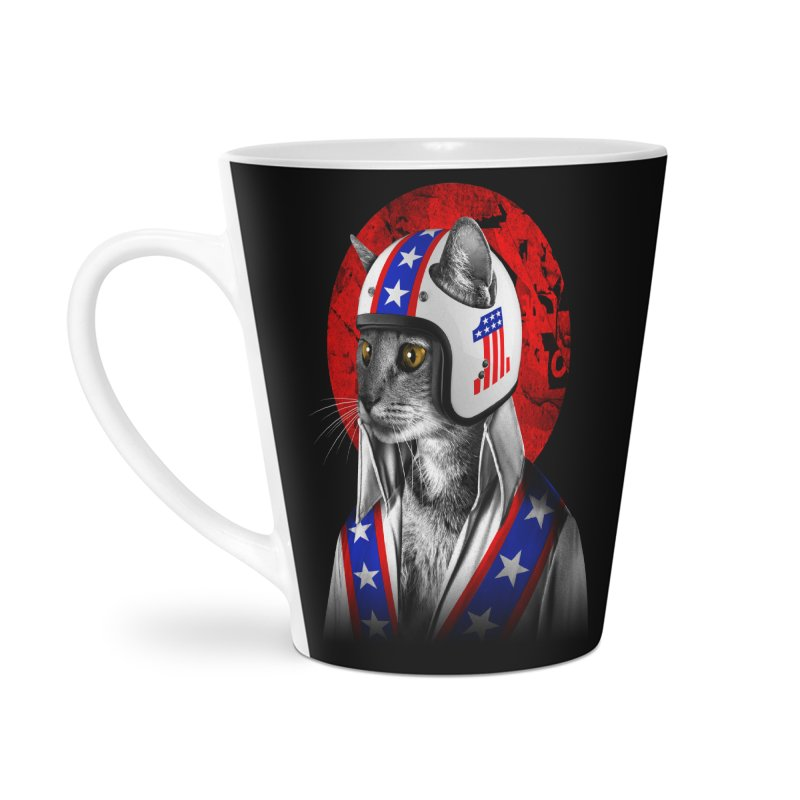 Evel Katneivel Accessories Latte Mug by Joe Conde