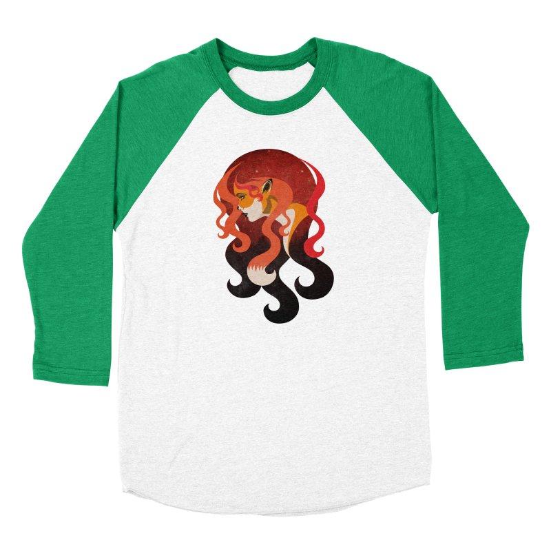 The Fox Women's Baseball Triblend Longsleeve T-Shirt by Joe Conde