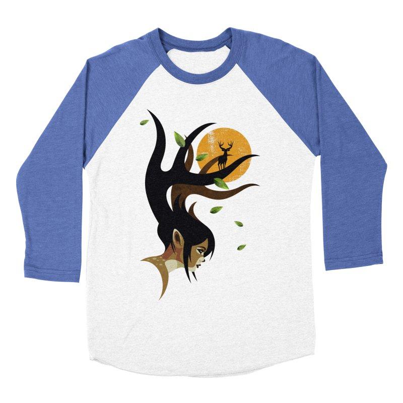 The Doe Women's Baseball Triblend Longsleeve T-Shirt by Joe Conde