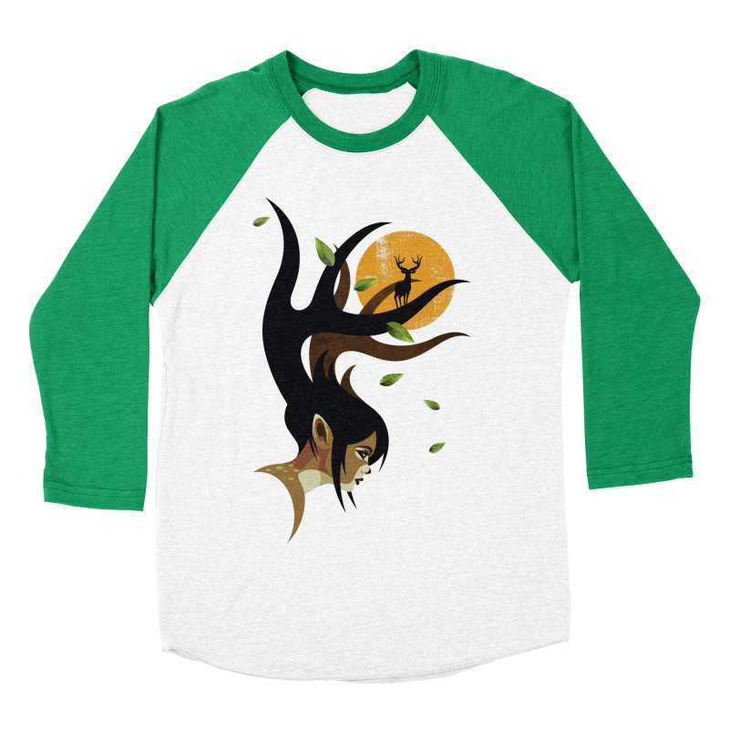 The Doe Men's Baseball Triblend Longsleeve T-Shirt by Joe Conde