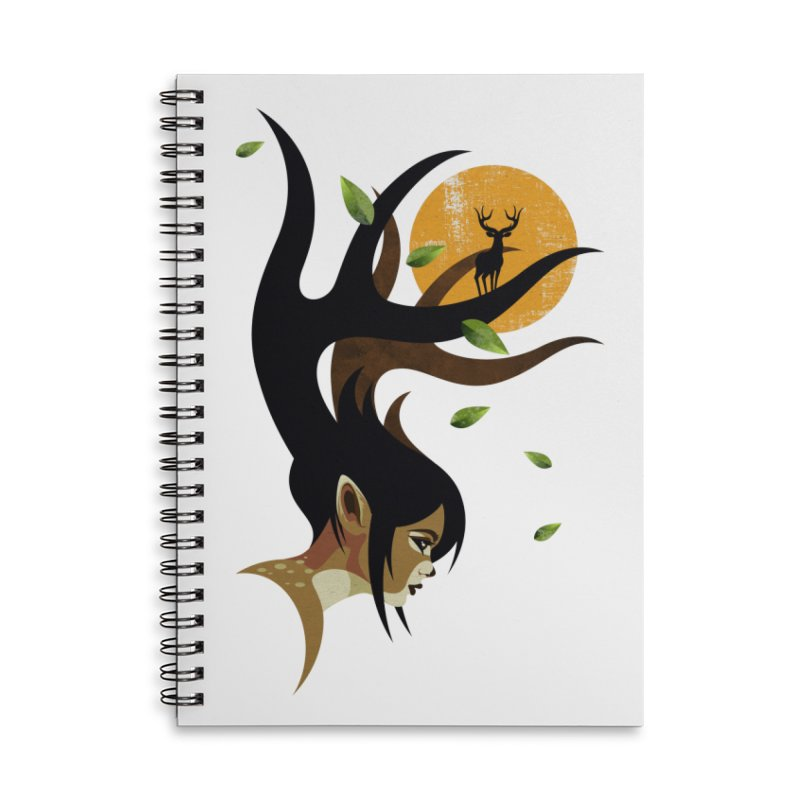 The Doe Accessories Lined Spiral Notebook by Joe Conde