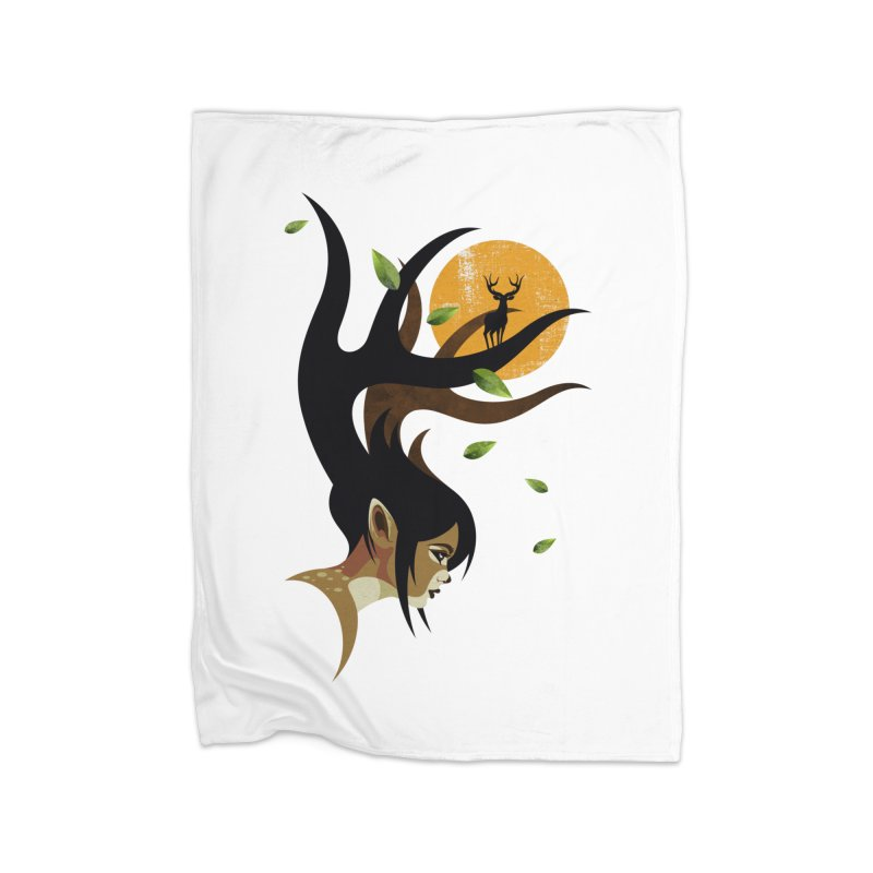 The Doe Home Fleece Blanket Blanket by Joe Conde