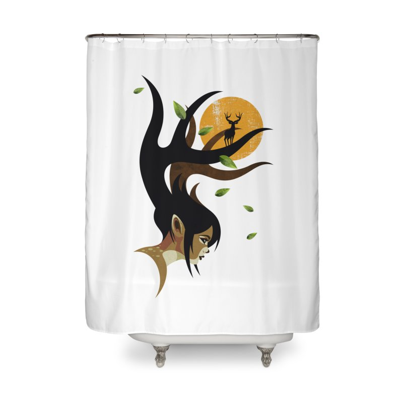 The Doe Home Shower Curtain by Joe Conde