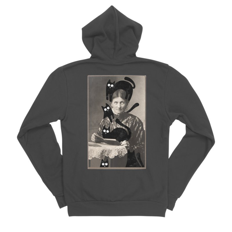 Woes of The  Cat Lady Women's Sponge Fleece Zip-Up Hoody by Joe Conde