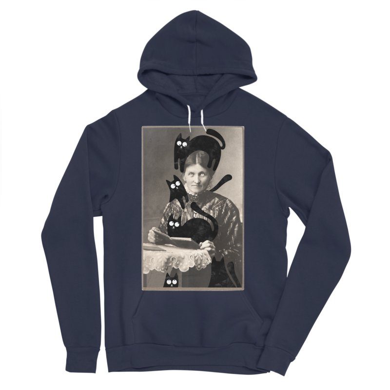 Woes of The  Cat Lady Men's Sponge Fleece Pullover Hoody by Joe Conde