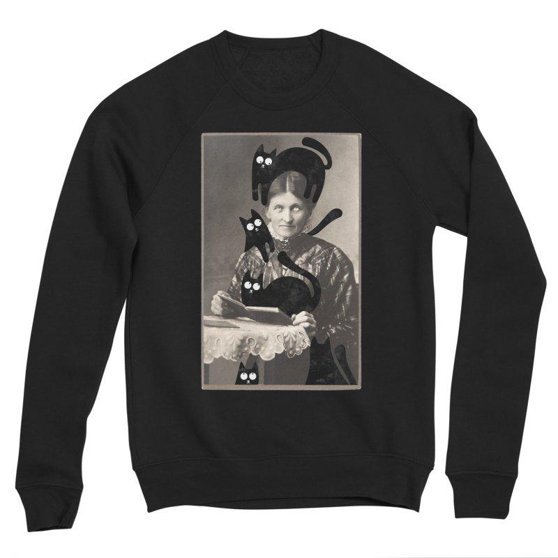 Woes of The  Cat Lady Men's Sponge Fleece Sweatshirt by Joe Conde