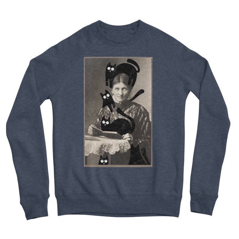Woes of The  Cat Lady Women's Sponge Fleece Sweatshirt by Joe Conde