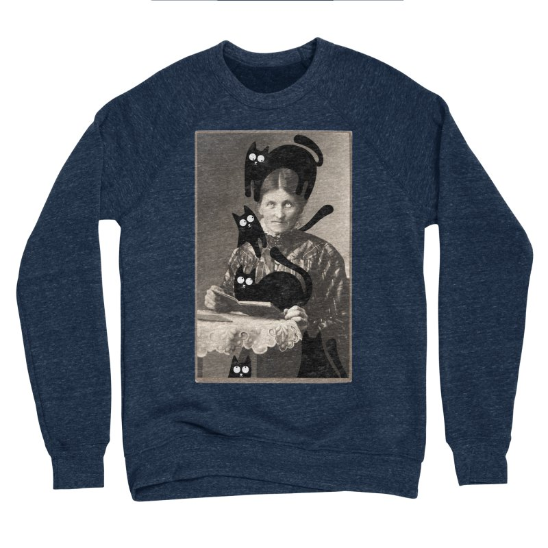 Woes of The  Cat Lady Men's Sponge Fleece Sweatshirt by Joe Conde