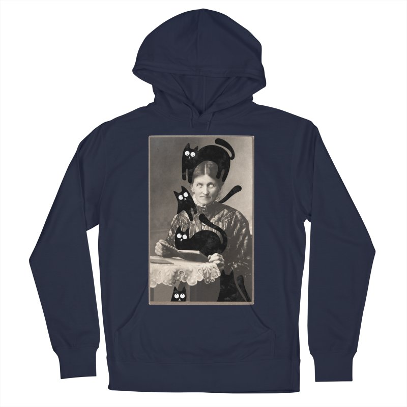 Woes of The  Cat Lady Women's French Terry Pullover Hoody by Joe Conde
