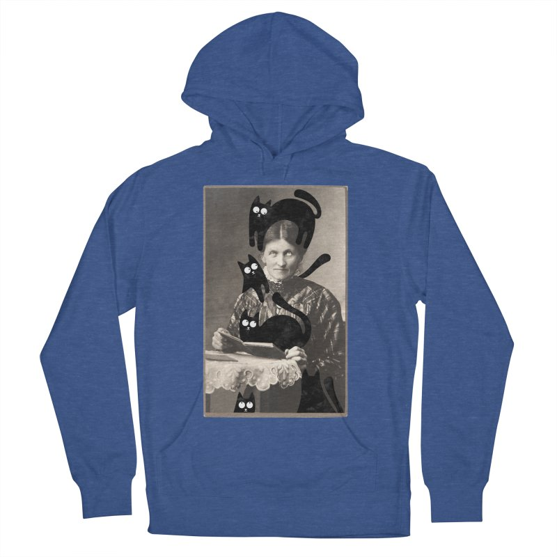 Woes of The  Cat Lady Men's French Terry Pullover Hoody by Joe Conde
