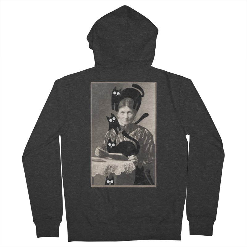Woes of The  Cat Lady Women's French Terry Zip-Up Hoody by Joe Conde