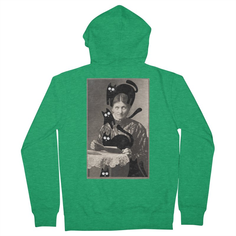 Woes of The  Cat Lady Men's French Terry Zip-Up Hoody by Joe Conde