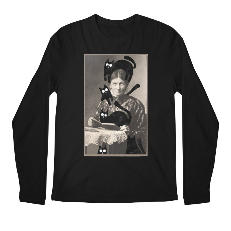 Woes of The  Cat Lady Men's Regular Longsleeve T-Shirt by Joe Conde
