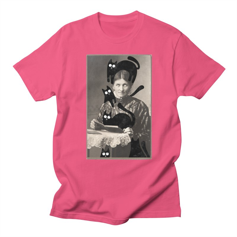 Woes of The  Cat Lady Men's Regular T-Shirt by Joe Conde