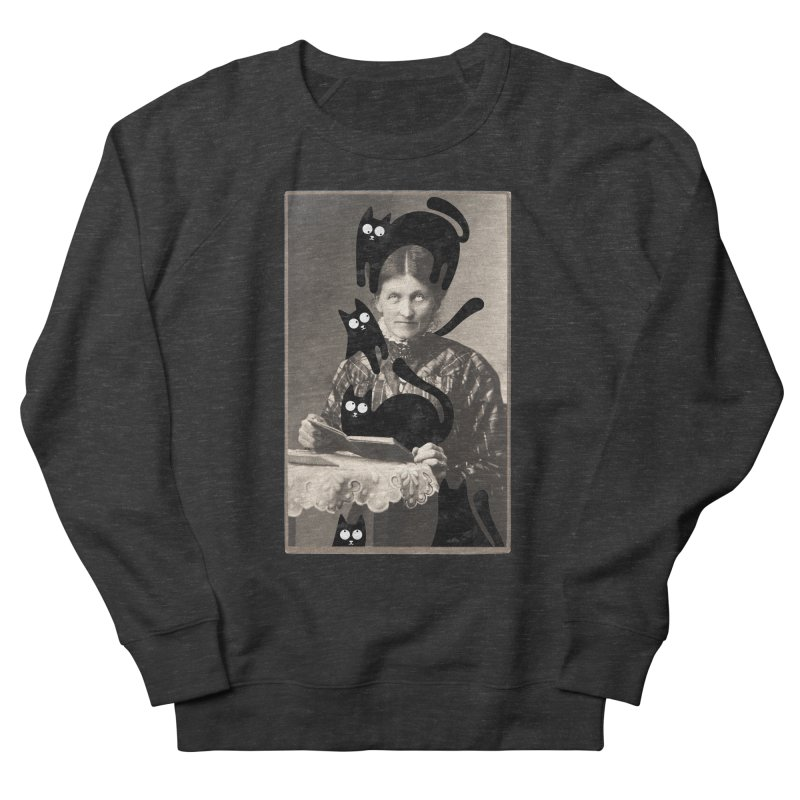 Woes of The  Cat Lady Women's French Terry Sweatshirt by Joe Conde