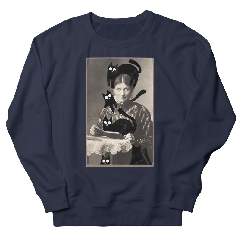 Woes of The  Cat Lady Men's French Terry Sweatshirt by Joe Conde