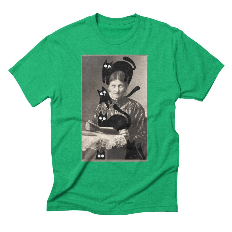Woes of The  Cat Lady Men's Triblend T-Shirt by Joe Conde