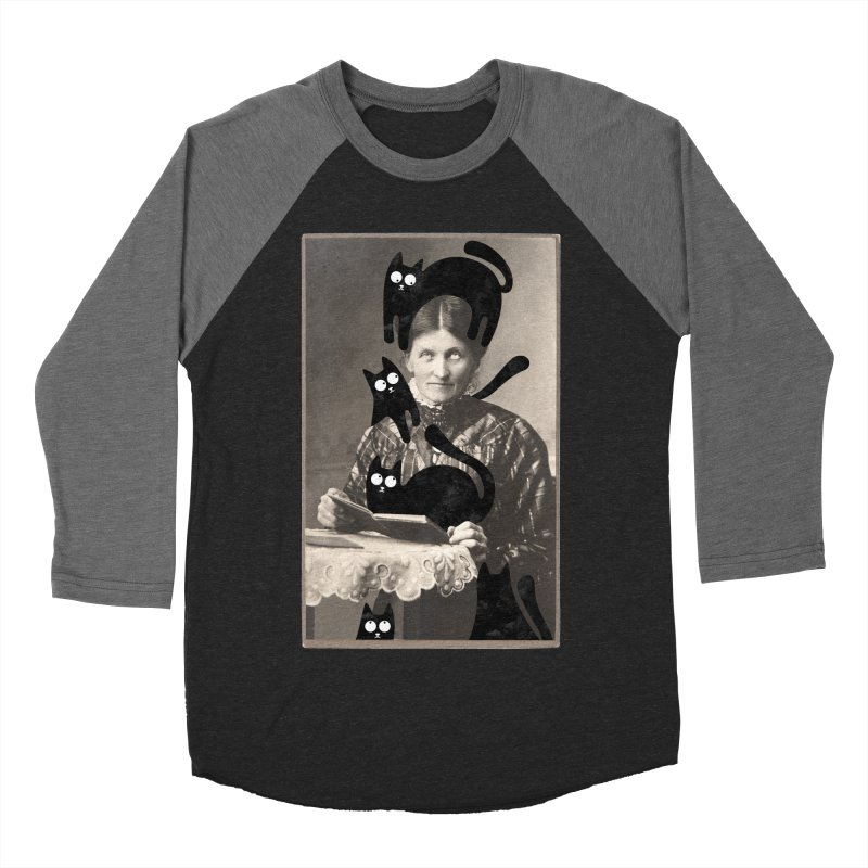 Woes of The  Cat Lady Women's Baseball Triblend Longsleeve T-Shirt by Joe Conde