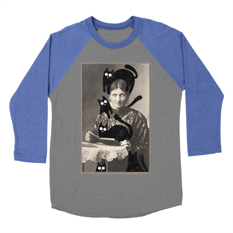 Woes of The  Cat Lady Men's Baseball Triblend Longsleeve T-Shirt by Joe Conde