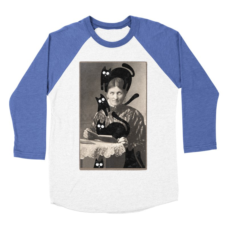 Woes of The  Cat Lady Men's Baseball Triblend Longsleeve T-Shirt by Joe Conde