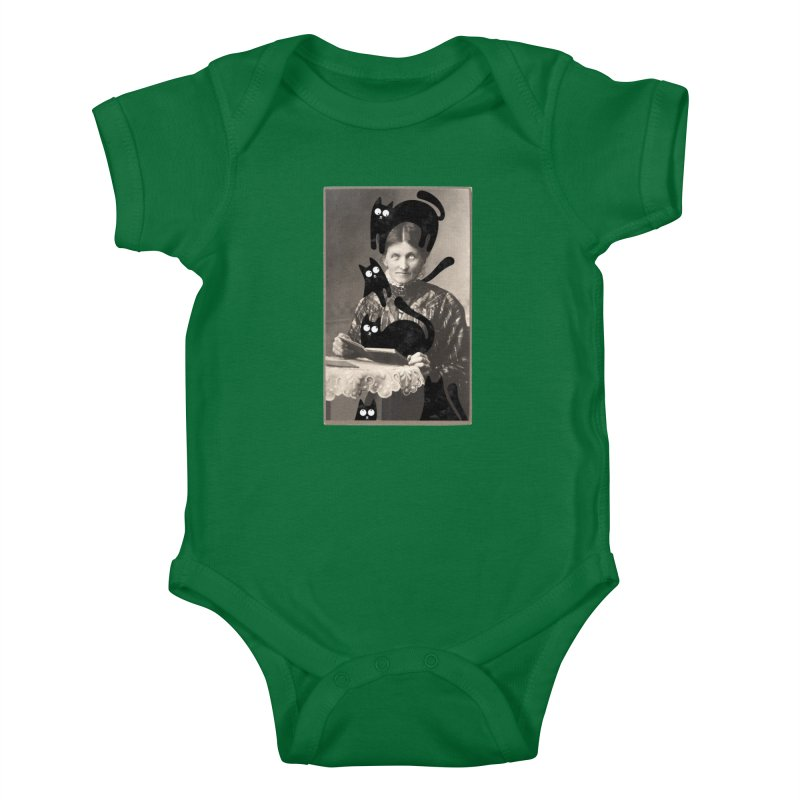 Woes of The  Cat Lady Kids Baby Bodysuit by Joe Conde