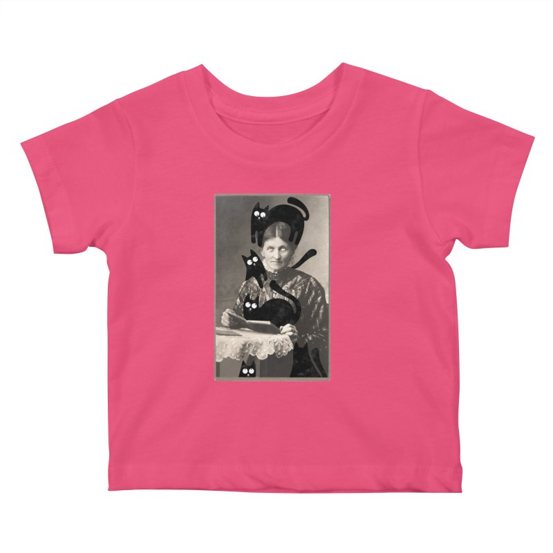 Woes of The  Cat Lady Kids Baby T-Shirt by Joe Conde