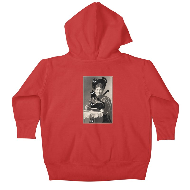 Woes of The  Cat Lady Kids Baby Zip-Up Hoody by Joe Conde