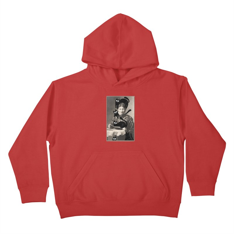 Woes of The  Cat Lady Kids Pullover Hoody by Joe Conde