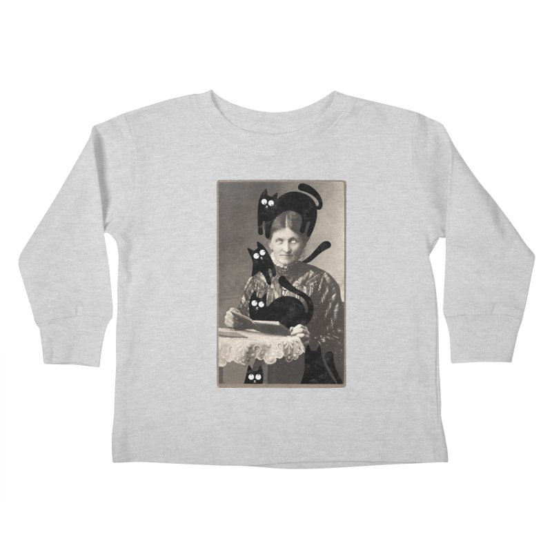 Woes of The  Cat Lady Kids Toddler Longsleeve T-Shirt by Joe Conde