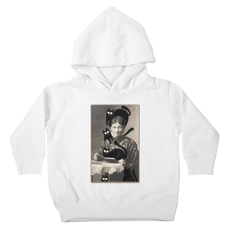 Woes of The  Cat Lady Kids Toddler Pullover Hoody by Joe Conde