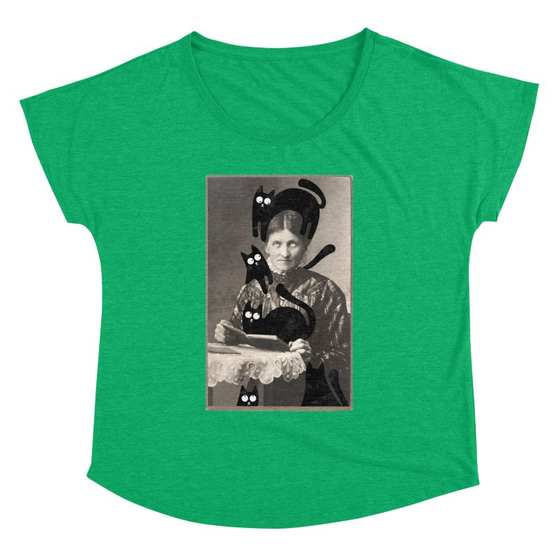 Woes of The  Cat Lady Women's Dolman Scoop Neck by Joe Conde