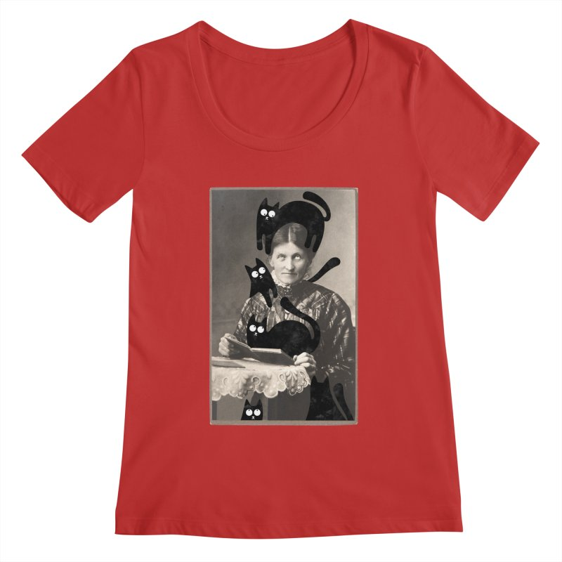Woes of The  Cat Lady Women's Regular Scoop Neck by Joe Conde