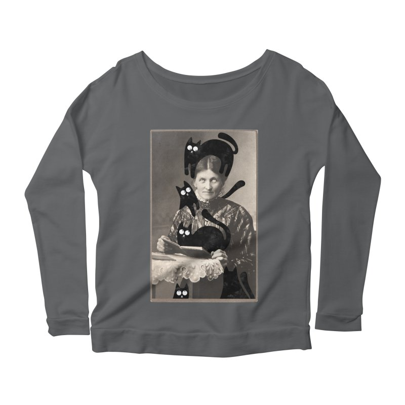 Woes of The  Cat Lady Women's Longsleeve T-Shirt by Joe Conde
