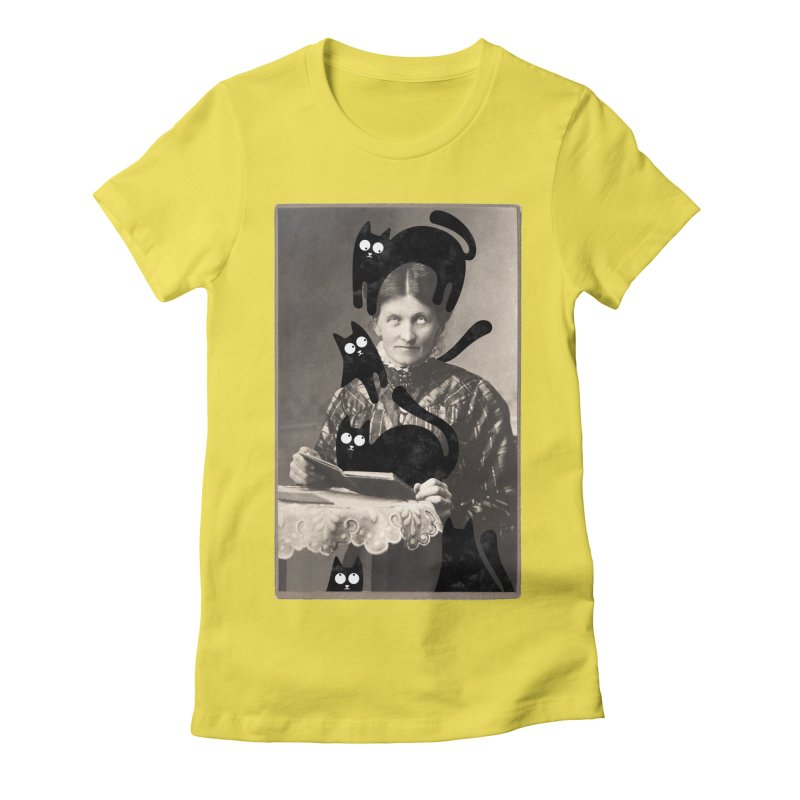 Woes of The  Cat Lady Women's Fitted T-Shirt by Joe Conde