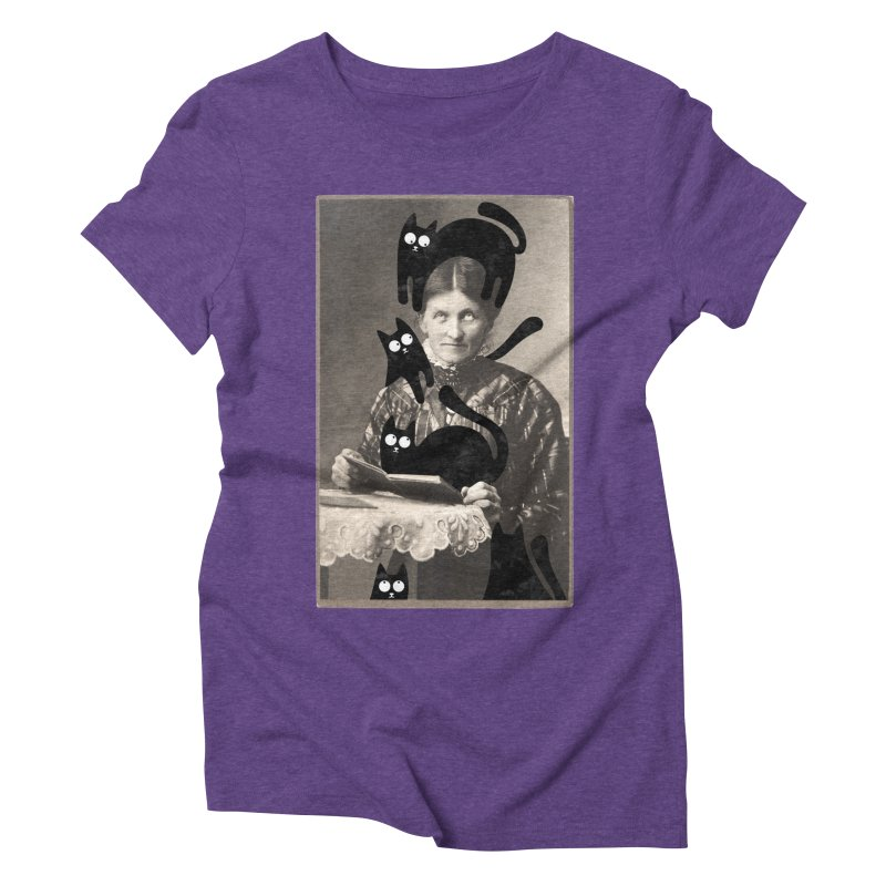 Woes of The  Cat Lady Women's Triblend T-Shirt by Joe Conde