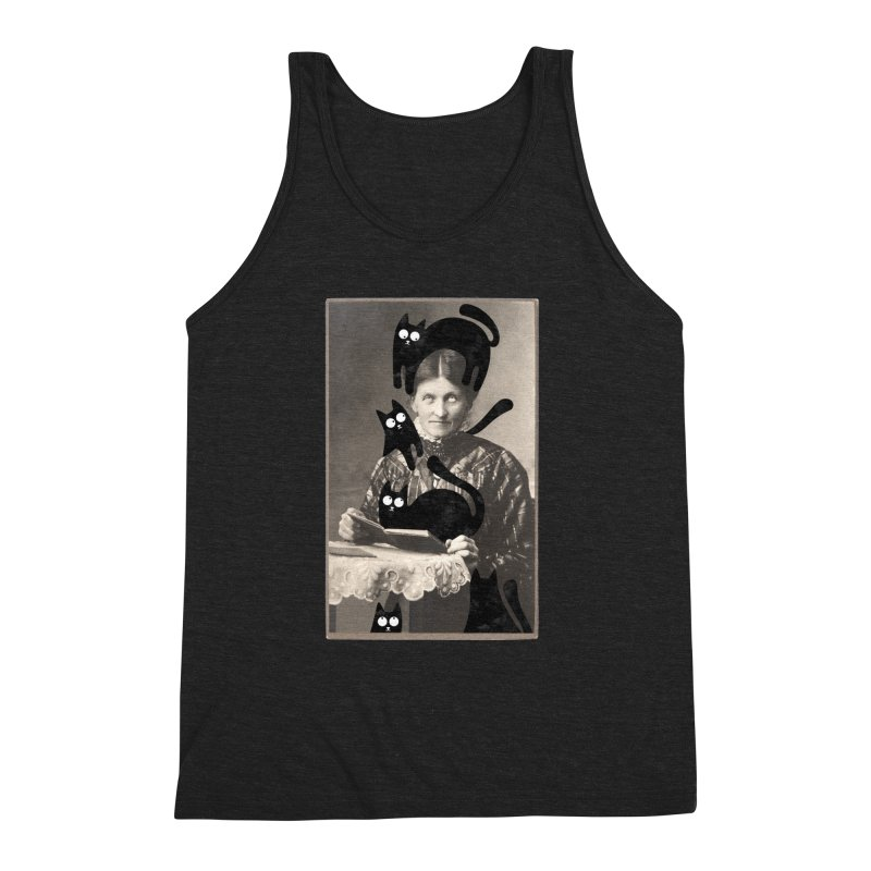 Woes of The  Cat Lady Men's Triblend Tank by Joe Conde