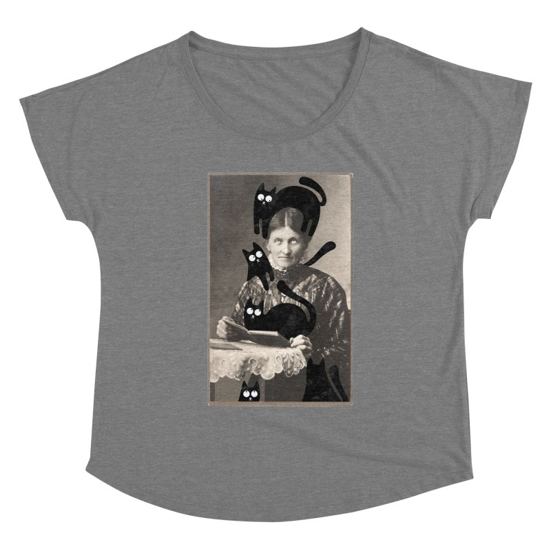 Woes of The  Cat Lady Women's Scoop Neck by Joe Conde