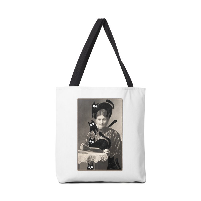 Woes of The  Cat Lady Accessories Bag by Joe Conde