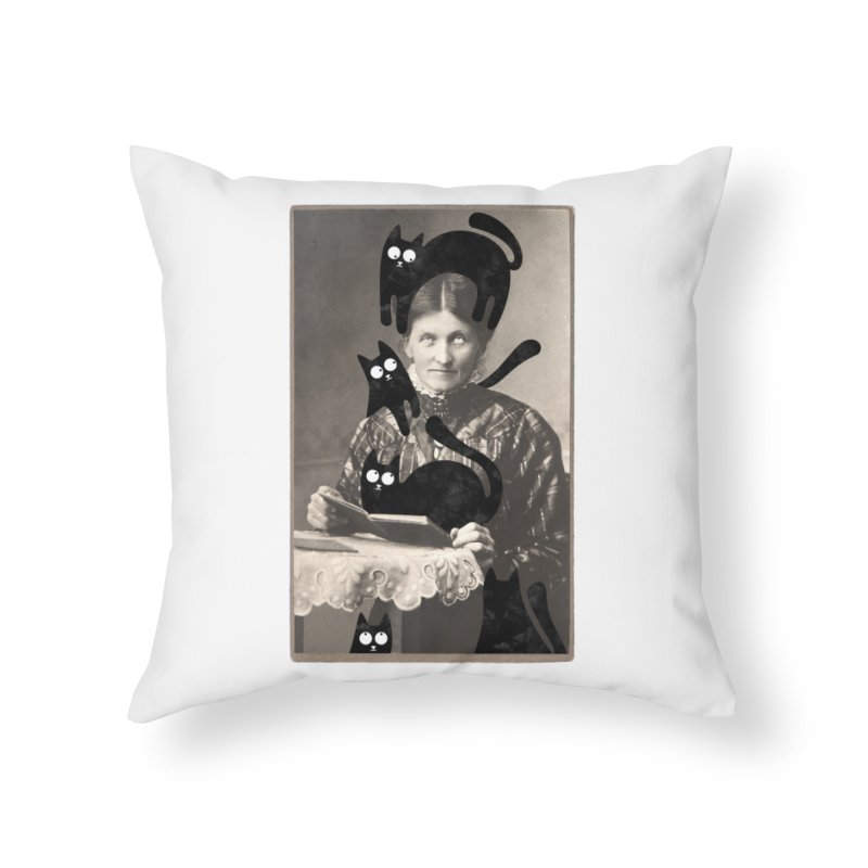 Woes of The  Cat Lady Home Throw Pillow by Joe Conde