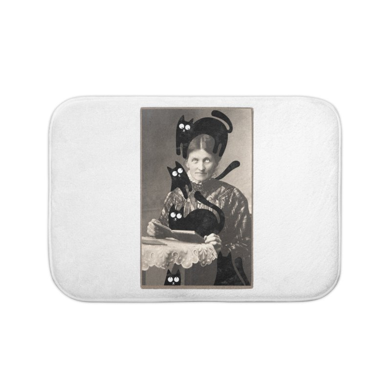 Woes of The  Cat Lady Home Bath Mat by Joe Conde