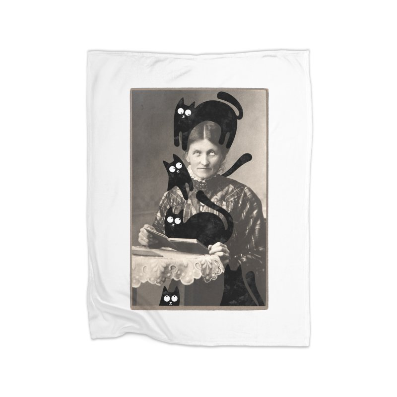 Woes of The  Cat Lady Home Fleece Blanket Blanket by Joe Conde