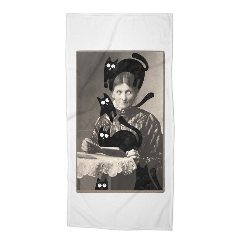 Woes of The  Cat Lady Accessories Beach Towel by Joe Conde