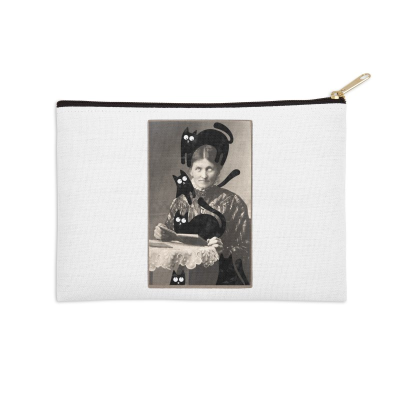 Woes of The  Cat Lady Accessories Zip Pouch by Joe Conde