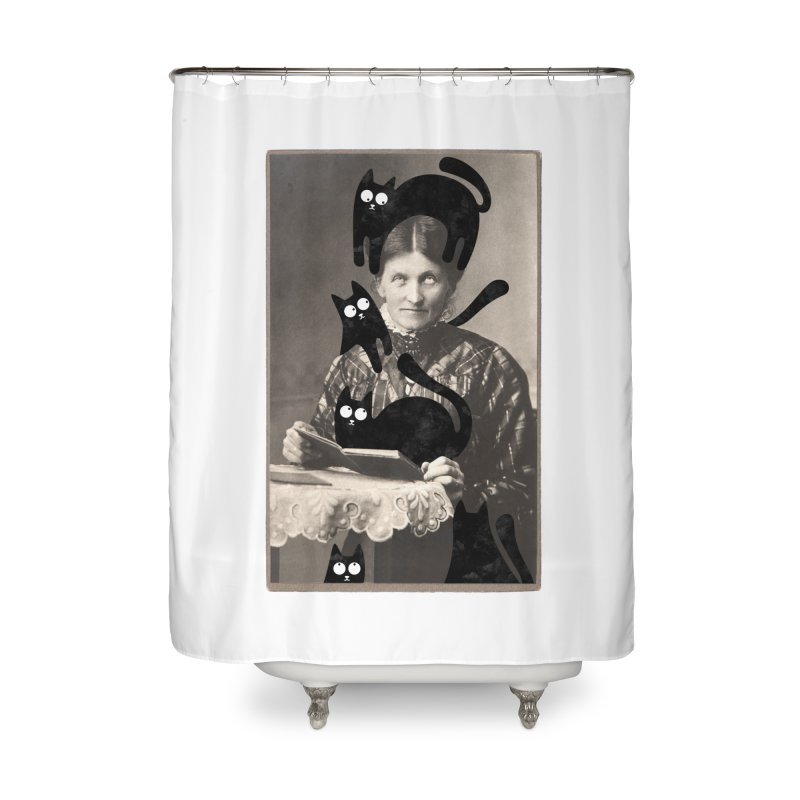 Woes of The  Cat Lady Home Shower Curtain by Joe Conde