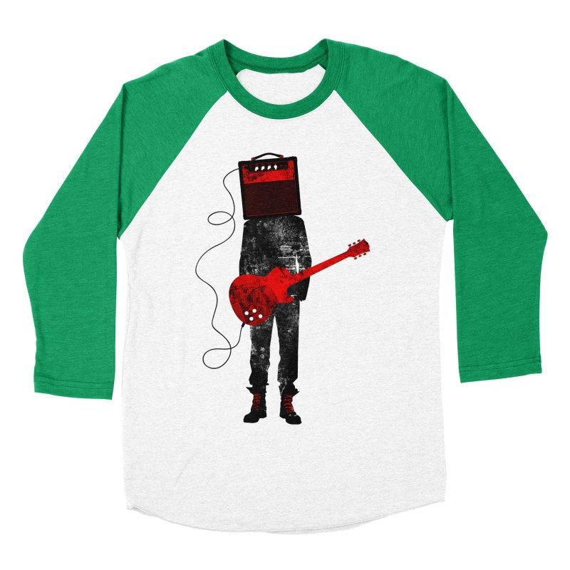 Amplified Men's Baseball Triblend Longsleeve T-Shirt by Joe Conde