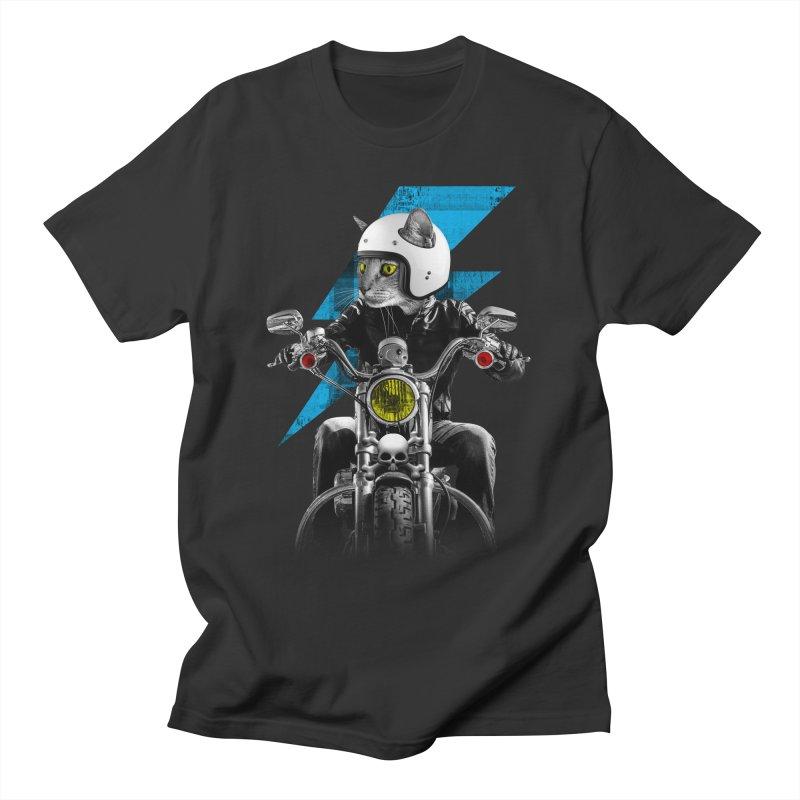 Biker Cat Men's T-Shirt by Joe Conde