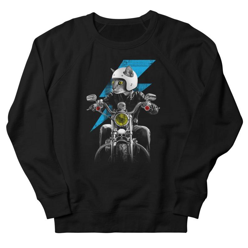 Biker Cat Men's Sweatshirt by Joe Conde